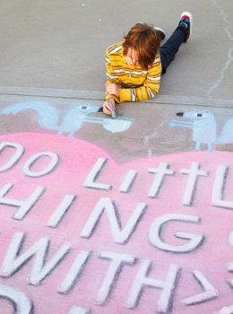 Sidewalk chalk messages: Tips and ideas from Hallmark artists