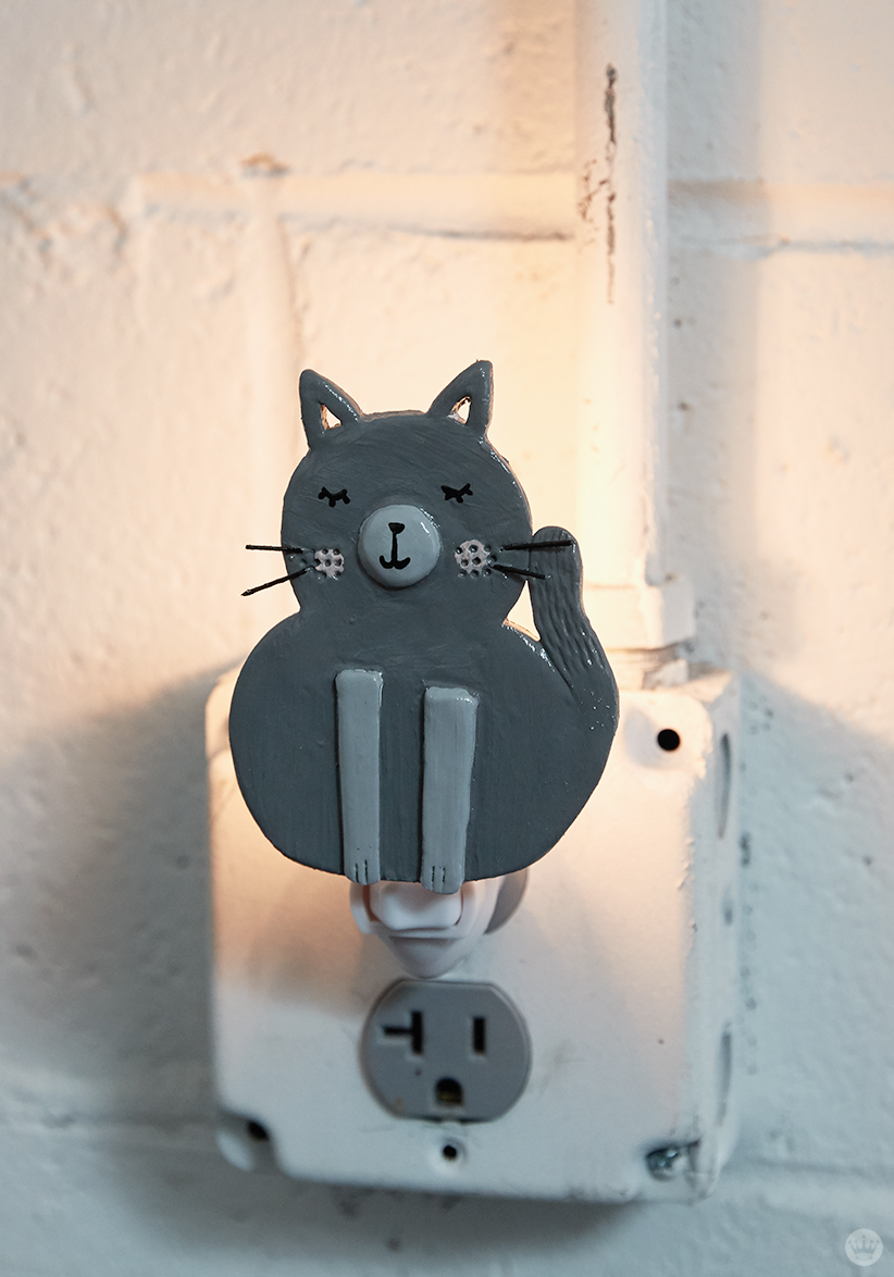 DIY nightlights: cat design