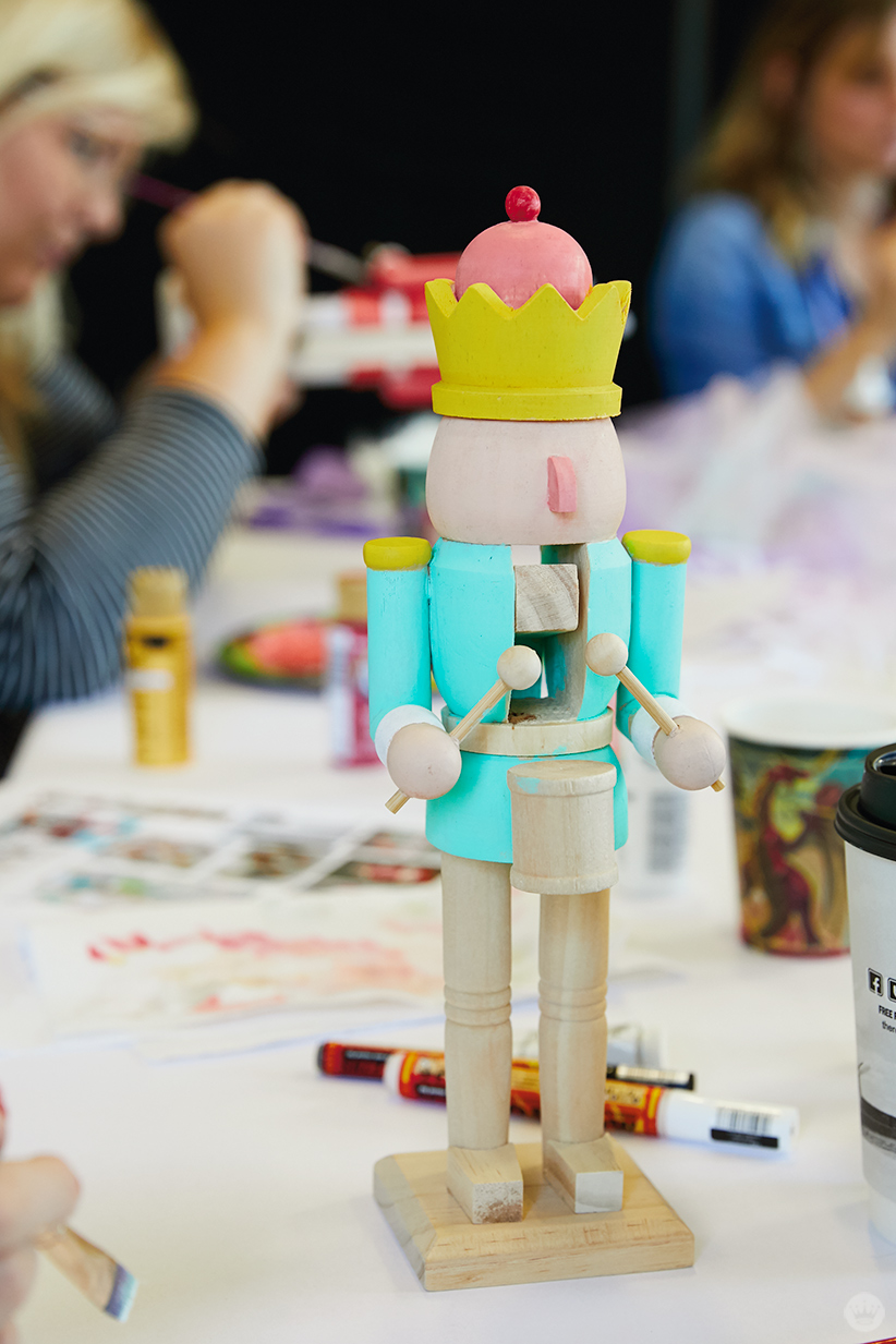 Hand painted wooden DIY nutcracker