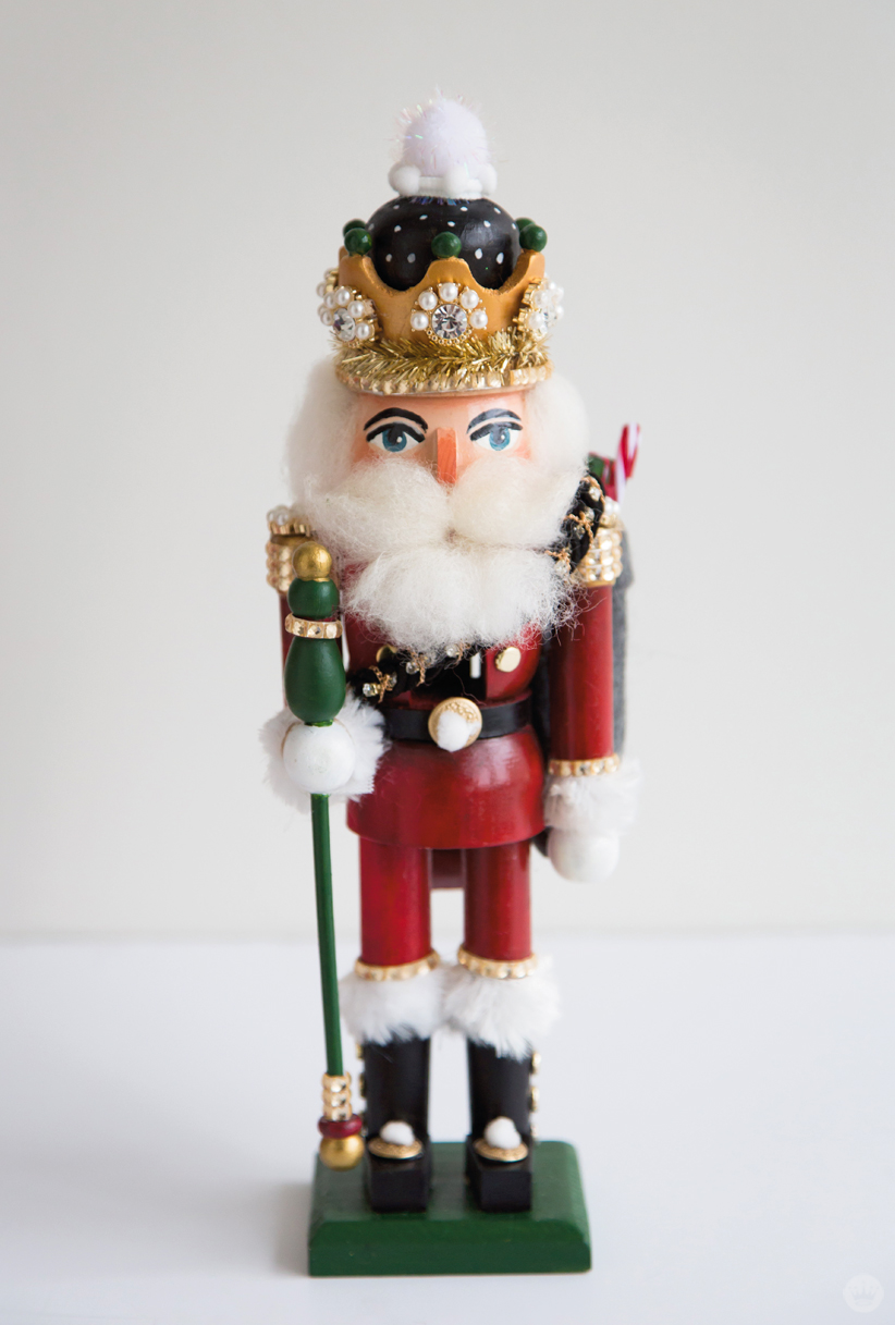 Finished hand painted nutcracker with spectacular crown