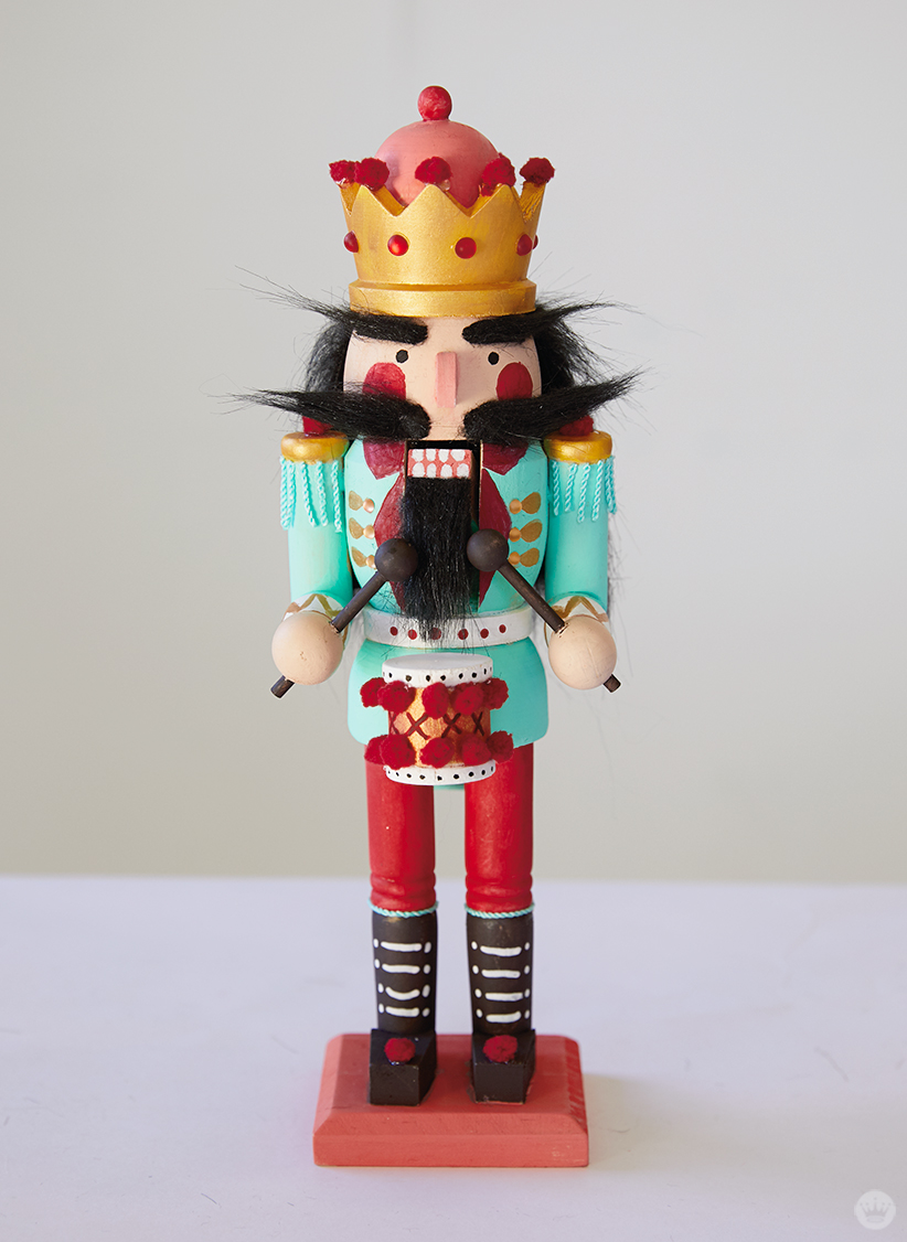 Finished hand painted nutcracker