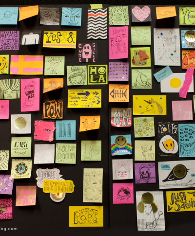 The Studio Ink team takes a creative recess with Post-It Notes | thinkmakeshareblog.com