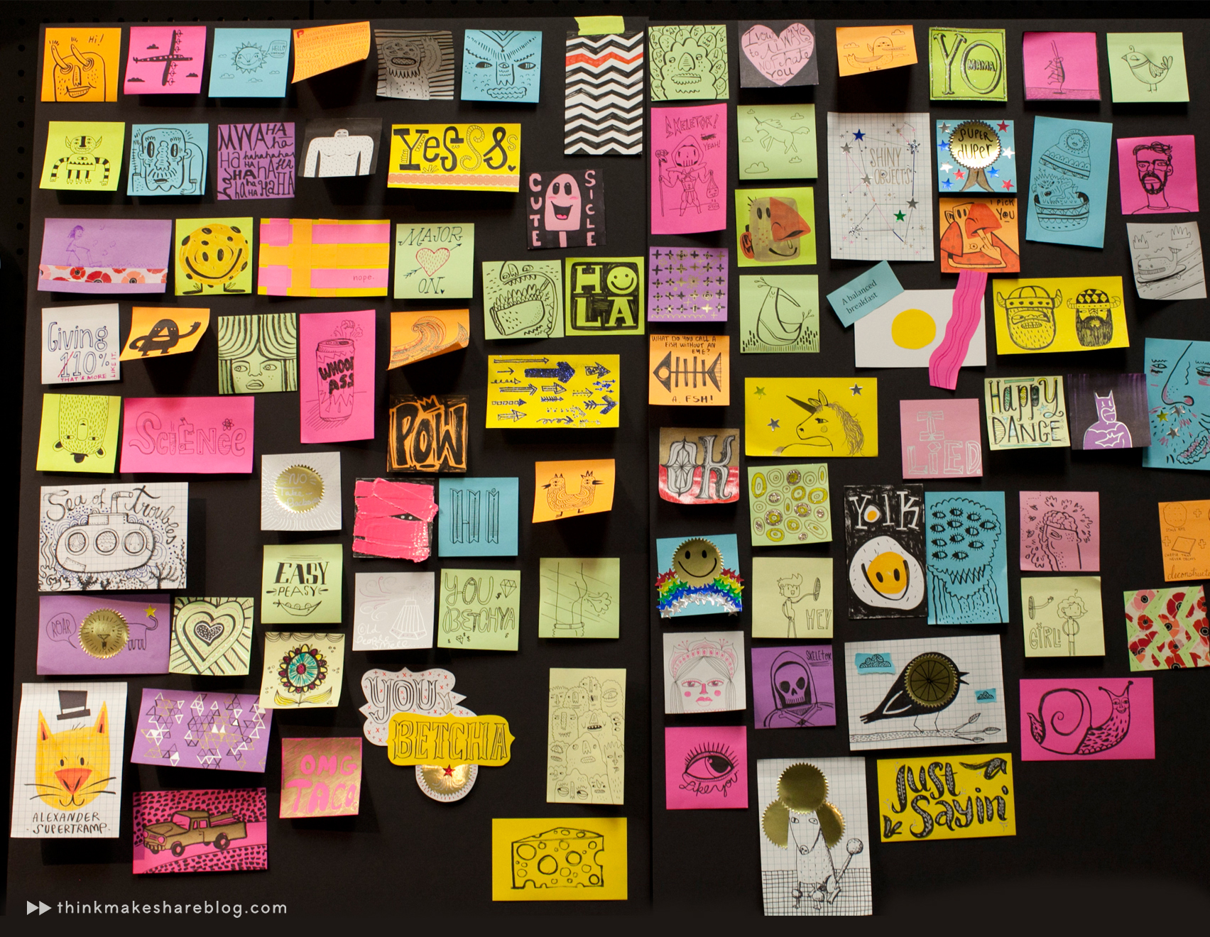 the studio ink team takes a post it art recess think make share. Black Bedroom Furniture Sets. Home Design Ideas