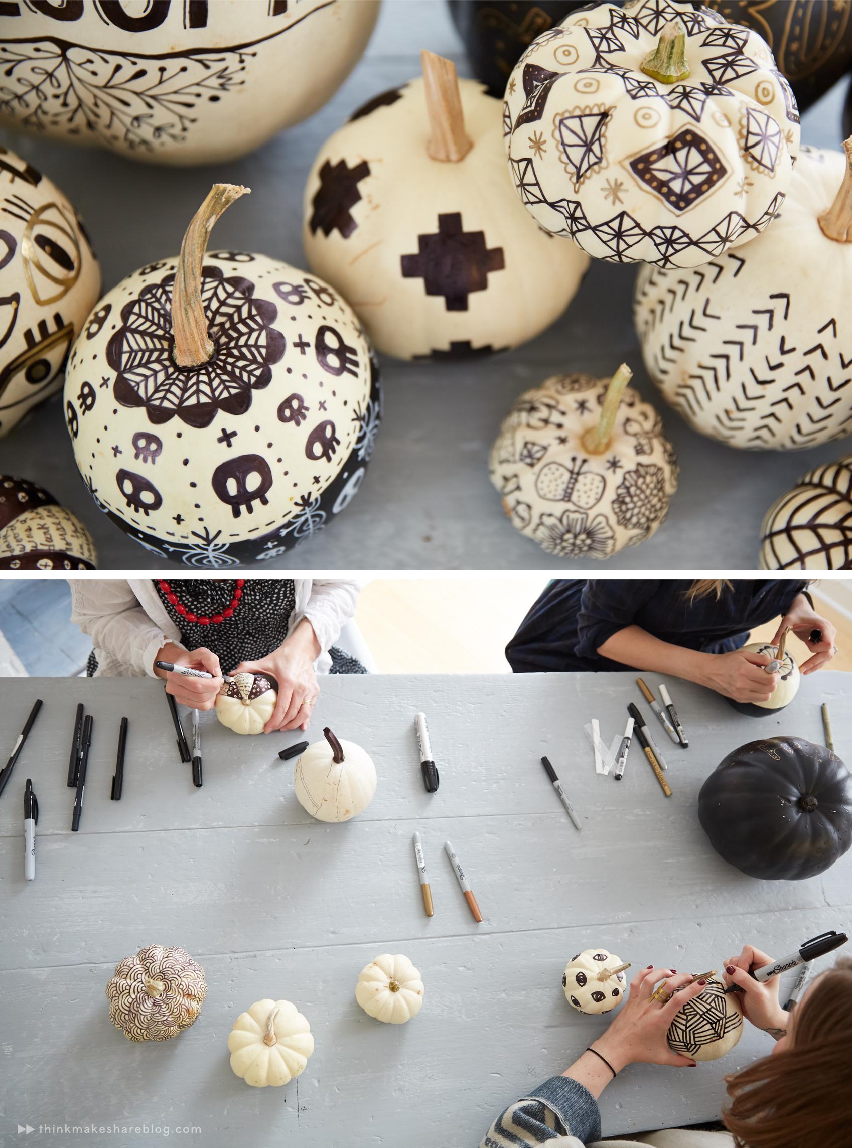 No Carve Pumpkin Decorating Think Make Share