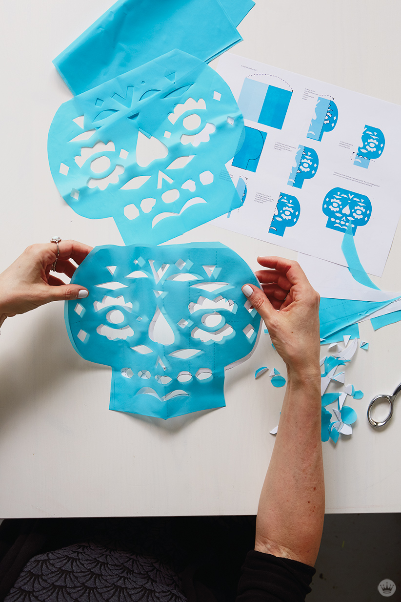 Diy Papel Picado Make Cut Paper Banners For Day Of The