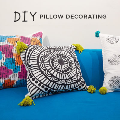 Pillow Decorating | thinkmakeshareblog.com