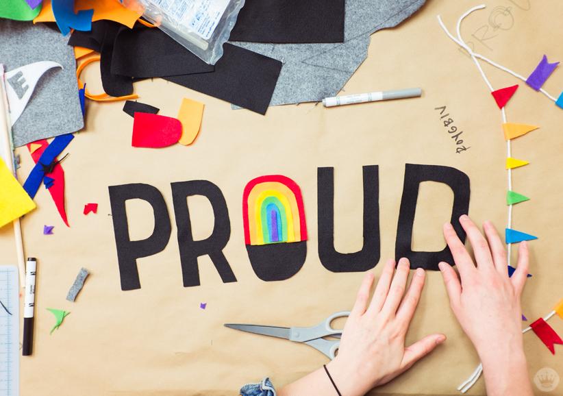 Rainbow Flag Diy For Lgbtq Pride Month Think Make Share