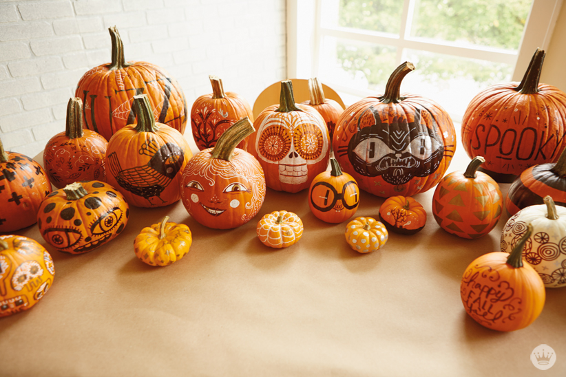 DIY: Simple pumpkin decorating with markers - Think.Make.Share.