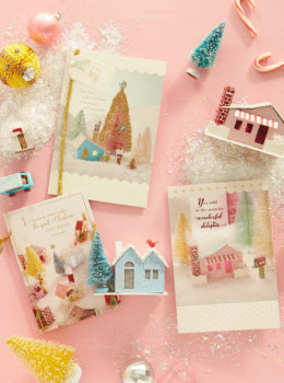 "Start with one DIY ""putz house""—then make your own glittery Christmas village"