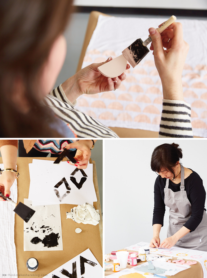 DIY Rubber Stamping for Mother's Day gifts | Think.Make.Share blog