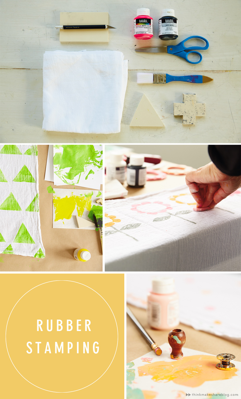 DIY Rubber Stamping for Mother's Day gifts   Think.Make.Share blog
