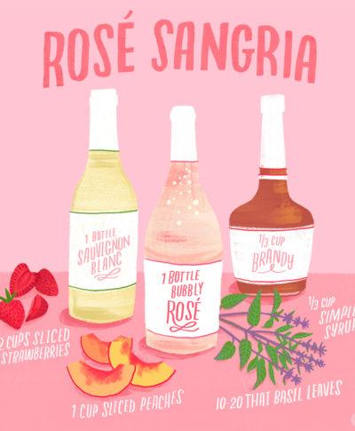Rose Sangria Recipe | thinkmakeshareblog.com