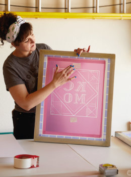 Behind the scenes at a BYO design screen-printing workshop