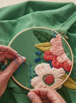 Brighten up a t-shirt with a free flower embroidery pattern (plus a bonus design idea)