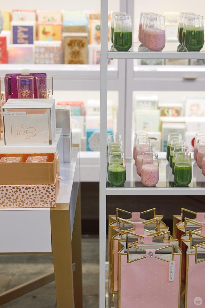 Displays at the new Hallmark Signature Store in Santa Monica, CA