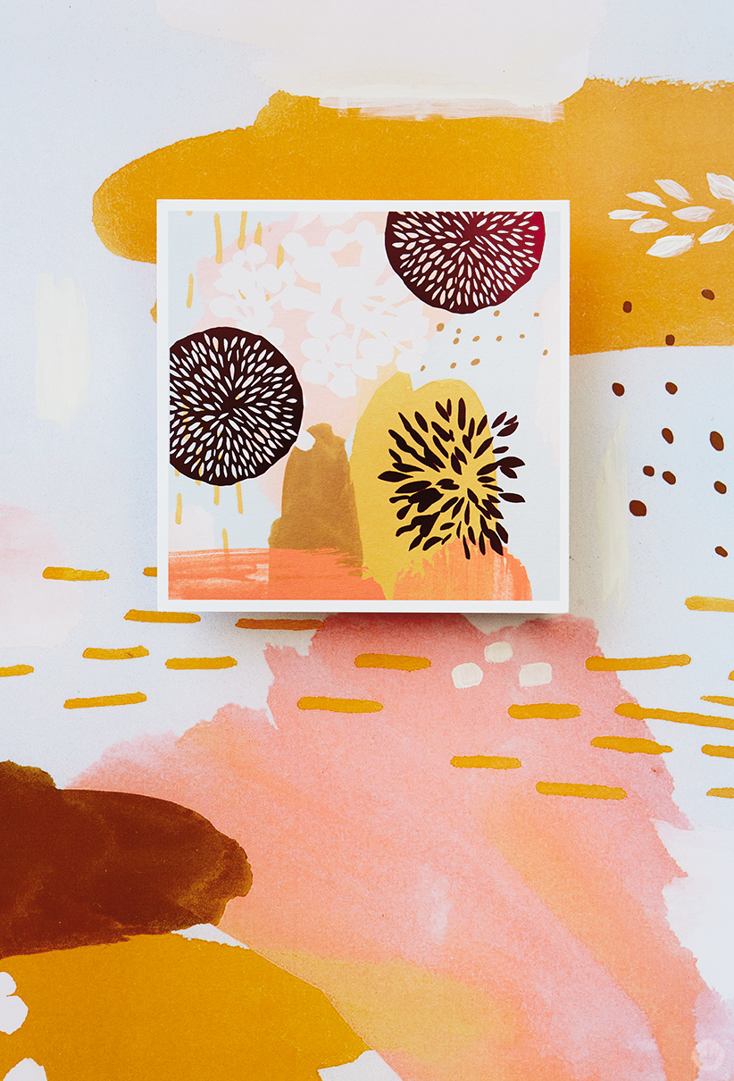 Artist sketchbooks inspire new card collection thinkkeare card with abstract patterns in a warm color palette from our sketchbook gallery collection kristyandbryce Image collections
