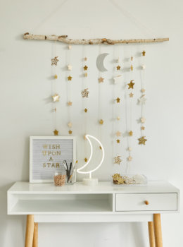Create your own dreamy room decor with a DIY star wall hanging