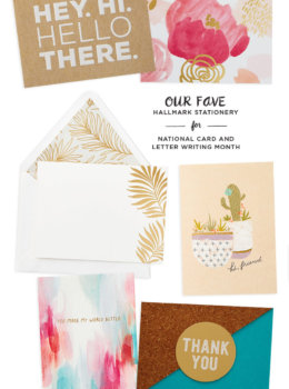 Our favorite stationery picks from Hallmark for National Card and Letter Writing Month