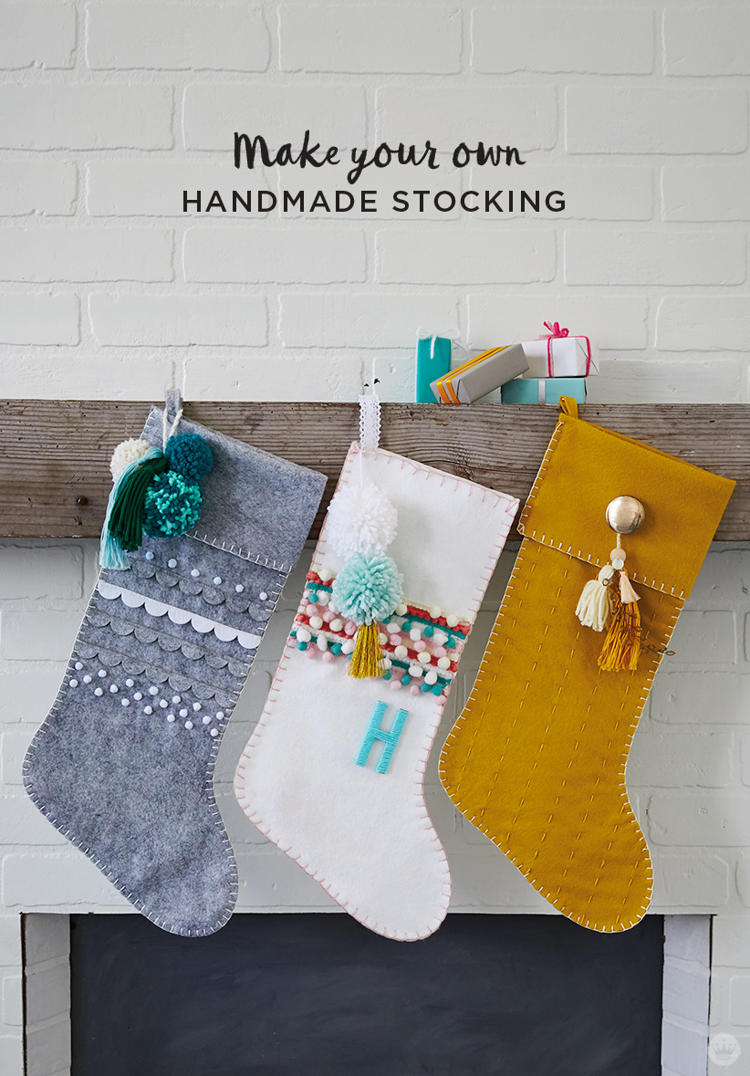 gray white and gold diy christmas stockings - How To Make A Christmas Stocking
