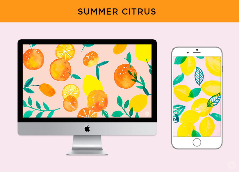 Free downloadable SUMMER CITRUS computer and phone wallpapers