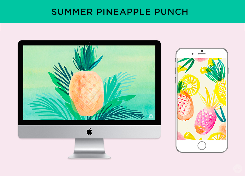 Free downloadable SUMMER PINEAPPLE PUNCH computer and phone wallpapers