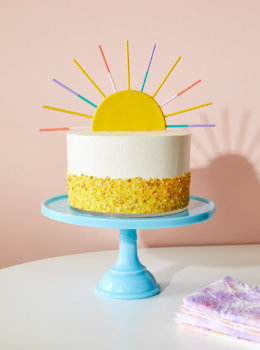 DIY Summer Sun Cake Topper with Crayola Model Magic