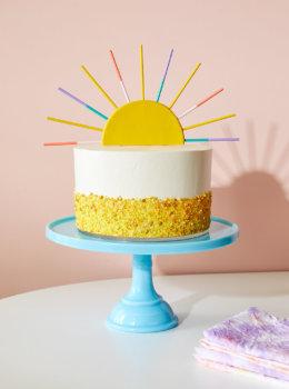 DIY Summer Sun Cake Topper with Crayola Model Magic