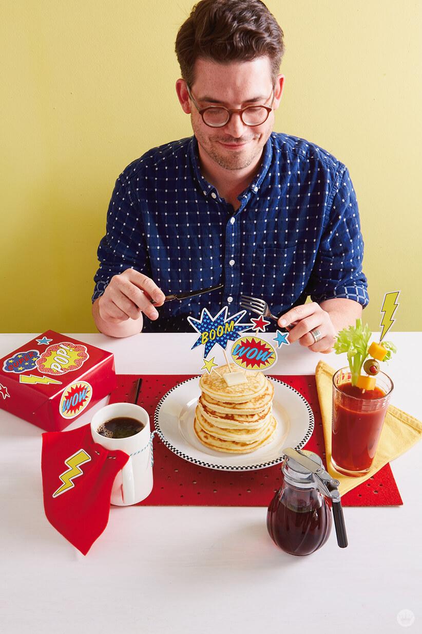 Super Dad Breakfast | thinkmakeshareblog.com