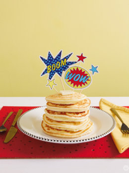 Free downloads: DIY superhero toppers for Father's Day breakfast