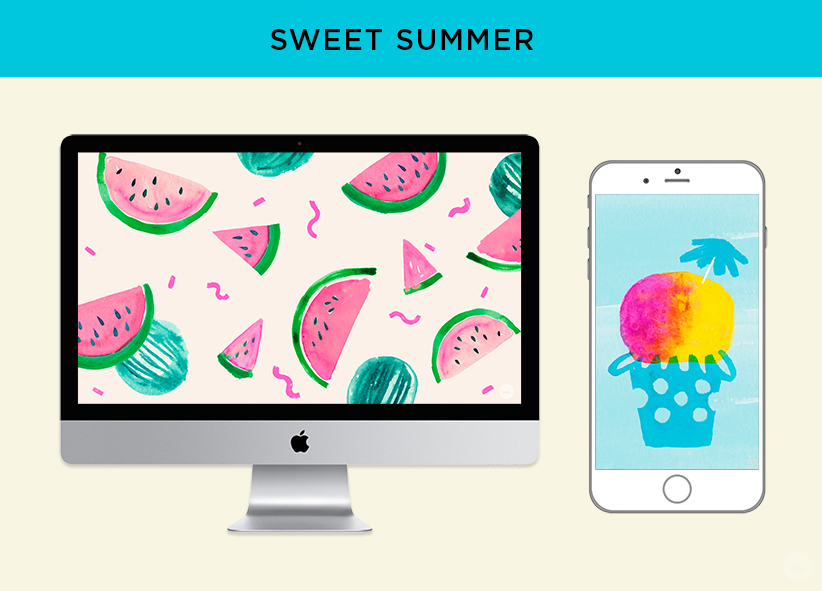 Free downloadable SWEET SUMMER computer and phone wallpapers