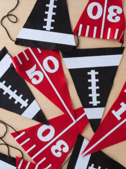 Celebrate your team with a DIY felt pennant banner