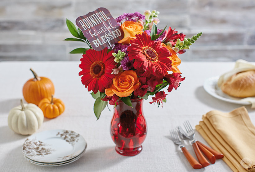 Create a fall floral thanksgiving centerpiece think make