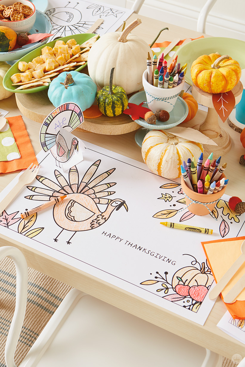 craft ideas for thanksgiving table thanksgiving table crafts 3 free downloadable 6249