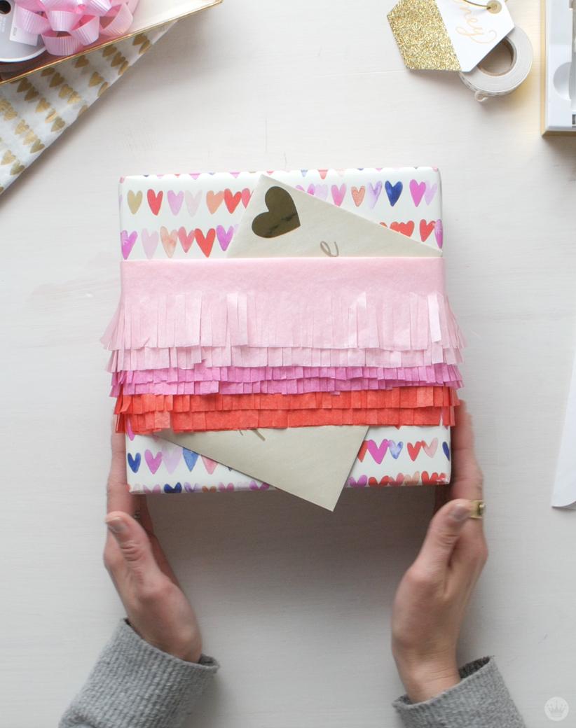 Tissue Paper Giftwrap Ideas   thinkmakeshareblog.com