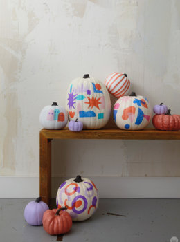 Tissue paper decoupage pumpkins, for gourdness sake