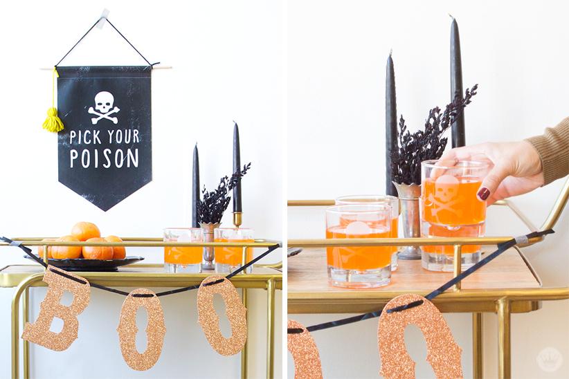 Trick Out Your Halloween Bar Cart | thinkmakeshareblog.com