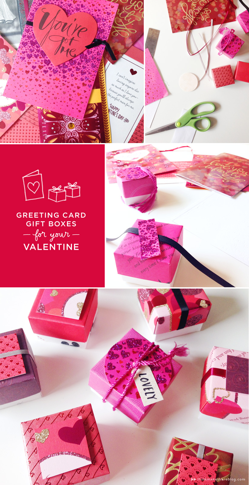 Make valentines day treat boxes out of recycled greeting cards val card gift boxes m4hsunfo