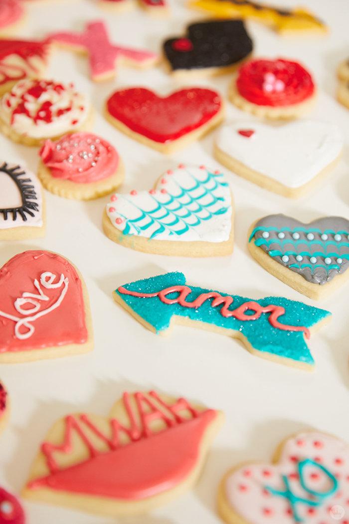 Valentine's Day Cookie Decorating workshop cookies by Hallmark creatives