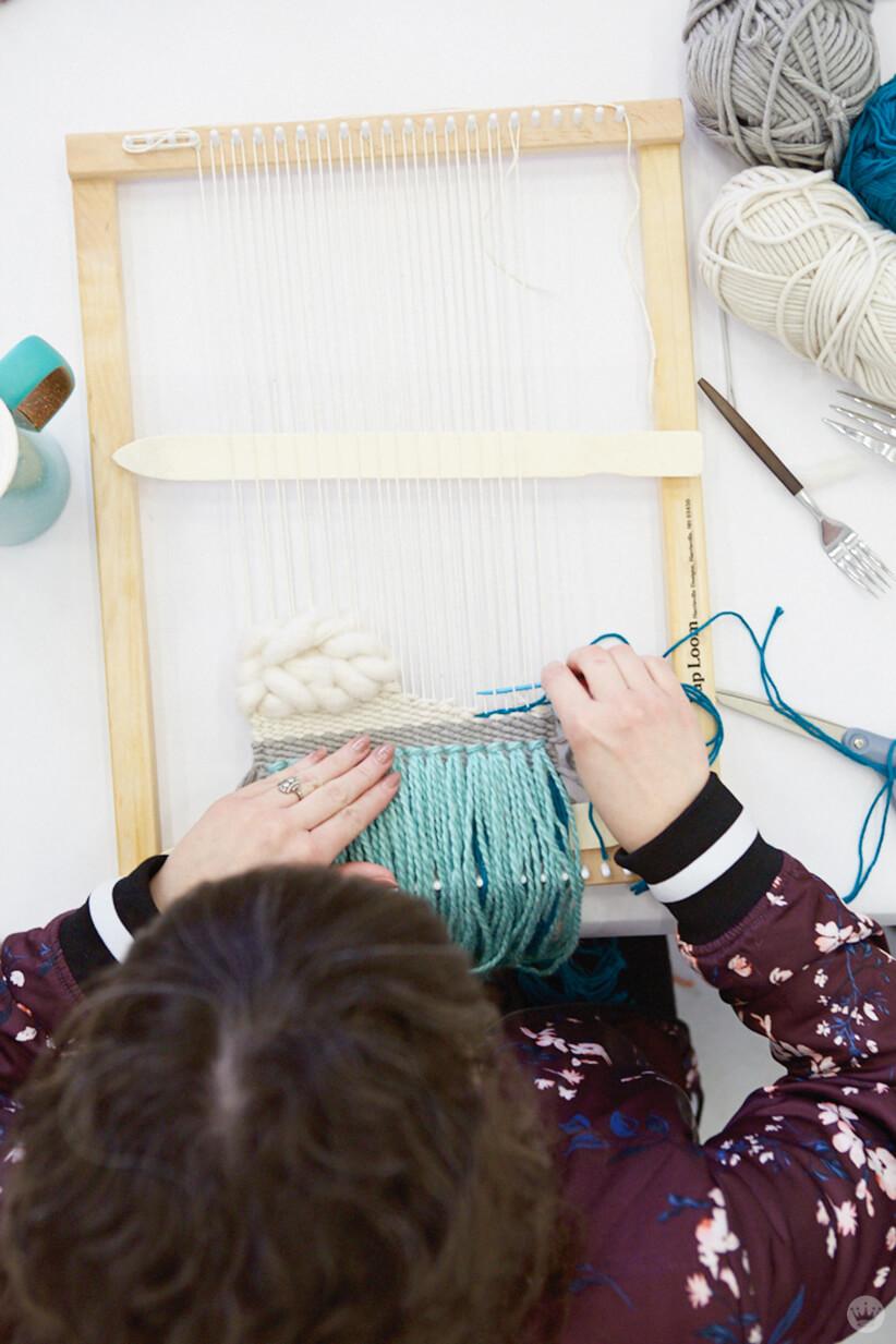 Woven wall hangings: work in progress
