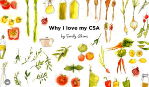 Why Hallmark Editorial Director Emily Akins loves her local CSA | thinkmakeshareblog.com