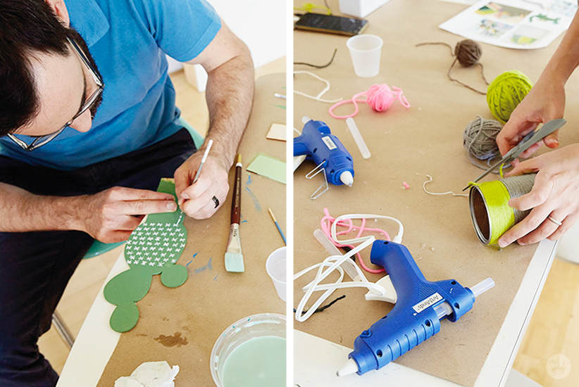 Wood Succulent Workshop | thinkmakeshareblog.com