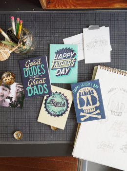 Studio Ink Father's Day cards: A little bit vintage and a little bit rock and roll