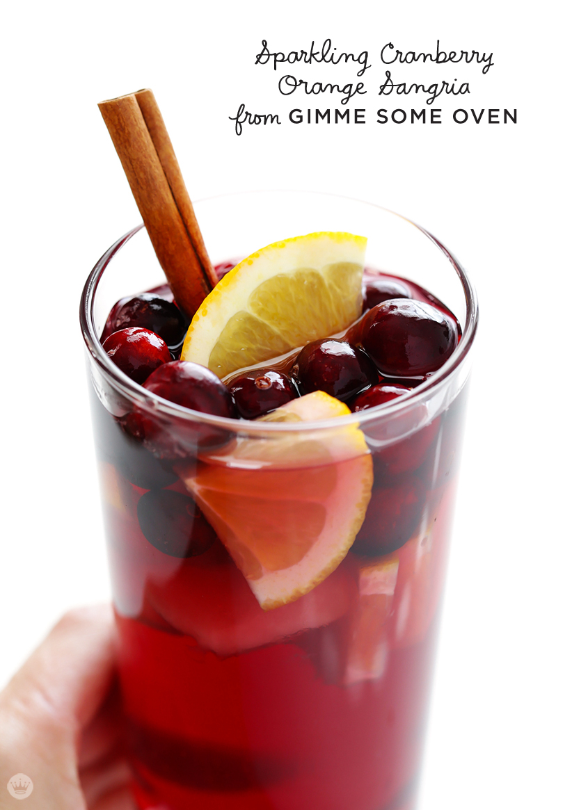 fromGIMME SOME OVENSparkling Cranberry Orange Sangria | thinkmakeshareblog.com