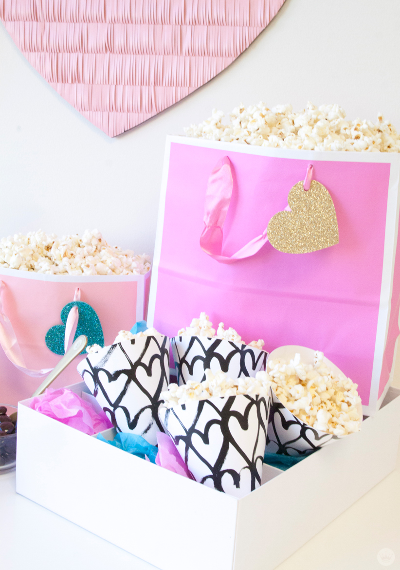 Host a DIY Galentine\'s Day popcorn bar - Think.Make.Share.