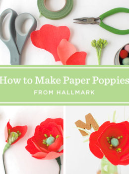 Crepe paper poppies: Remembering those who sacrifice