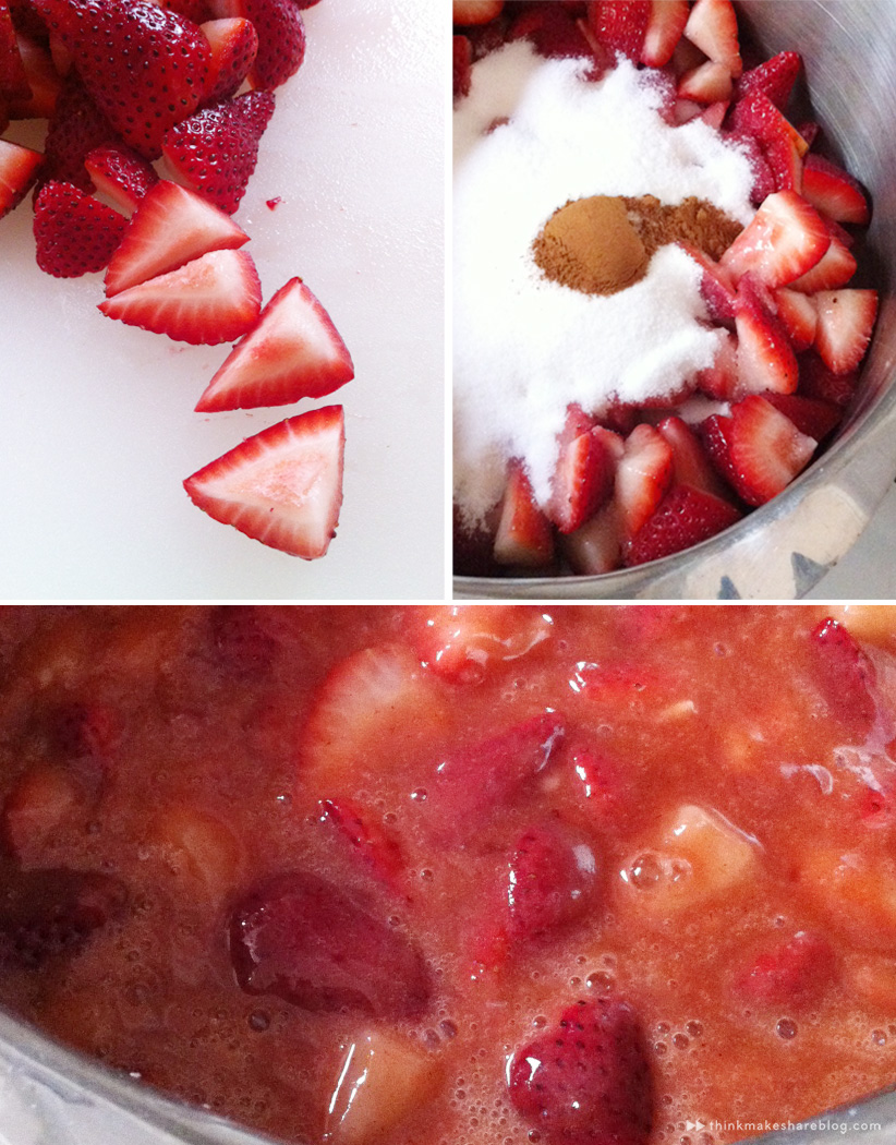 making strawberry pie for Mom with Hallmarker Stephanie Young