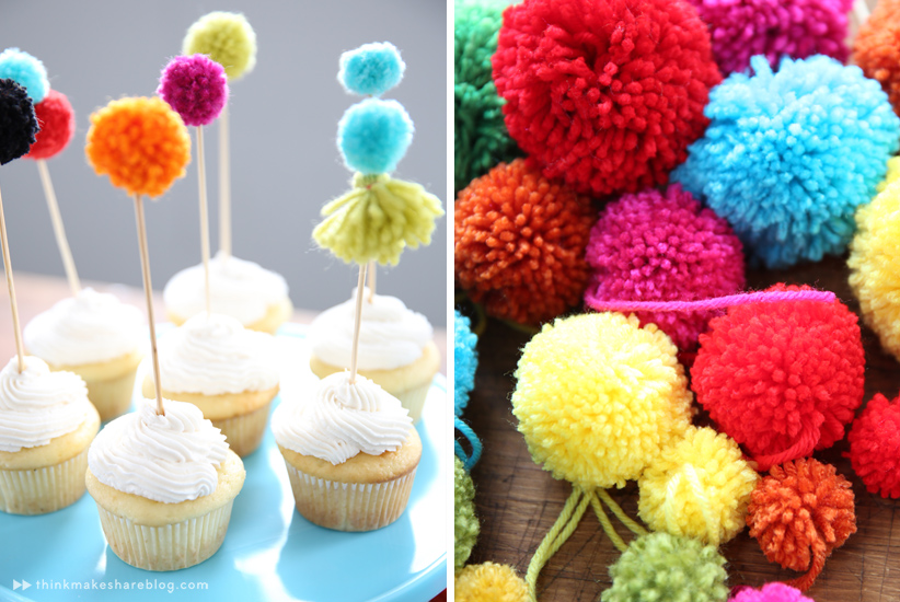 pom pom cupcakes by hallmark artists